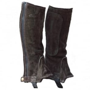 Shires Adults Suede Half Chaps