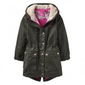 Joules Junior Wynter Fleece Lined Parka