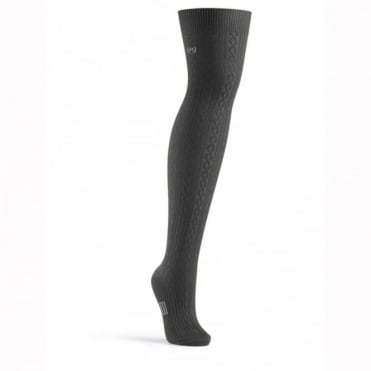 Hunter Cable Thigh High Socks