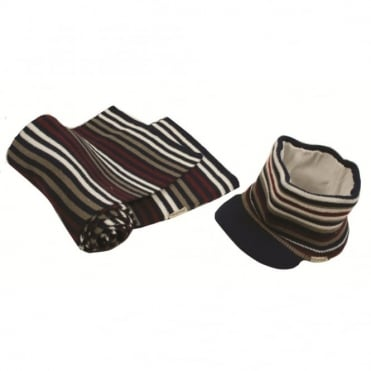 Horseware Striped Hat and Scarf