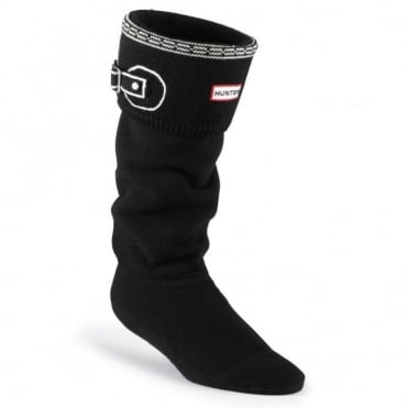 Hunter Trompe L'oeil Cuff Welly Socks