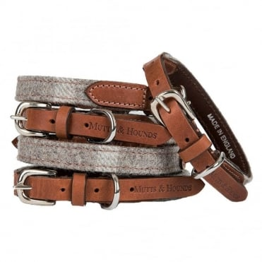 Mutts & Hounds Mutts & Hounds Slate Tweed Dog Collar