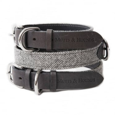 Mutts & Hounds Mutts & Hounds Stoneham Tweed Dog Collar