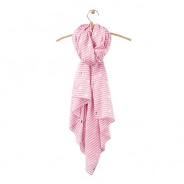Joules Orna Foil Print Scarf