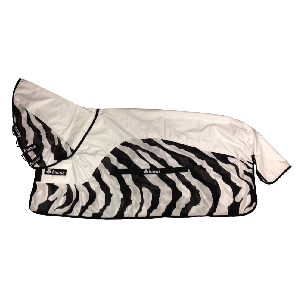 Bucas Buzz-Off Rain Zebra Full Neck Fly Rug