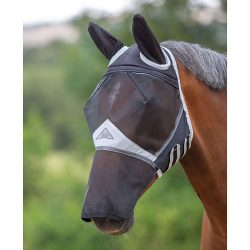 Shires fine mesh fly mask with nose and ears
