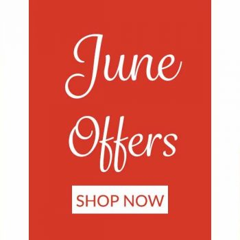 June monthly offers banner with Horseware clothing and Innocent Hound dog treats highlighted
