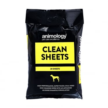 Animology Clean Sheets Pet Wipes (20 Pack)