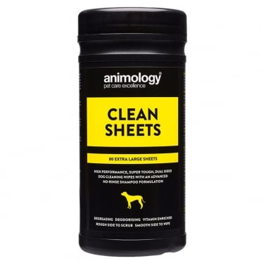 Animology Clean Sheets Pet Wipes (80 Pack)