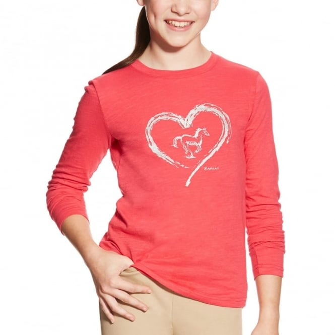 Ariat Girls Heart Foil Top