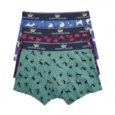 Crown Joules 3 Pack Boxers