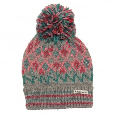 Horseware Girls Fairisle Bobble Hat