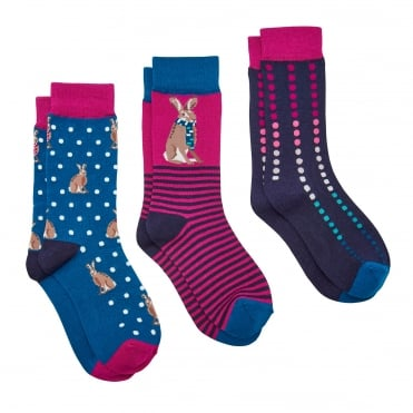 Joules Brill Bamboo (X) Socks (3 Pack)
