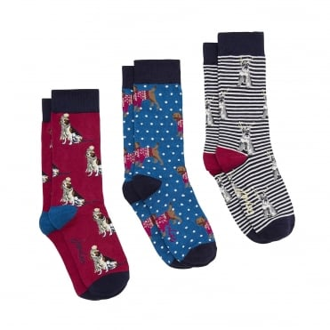 Joules Festive Cracker Socks (3 Pack)