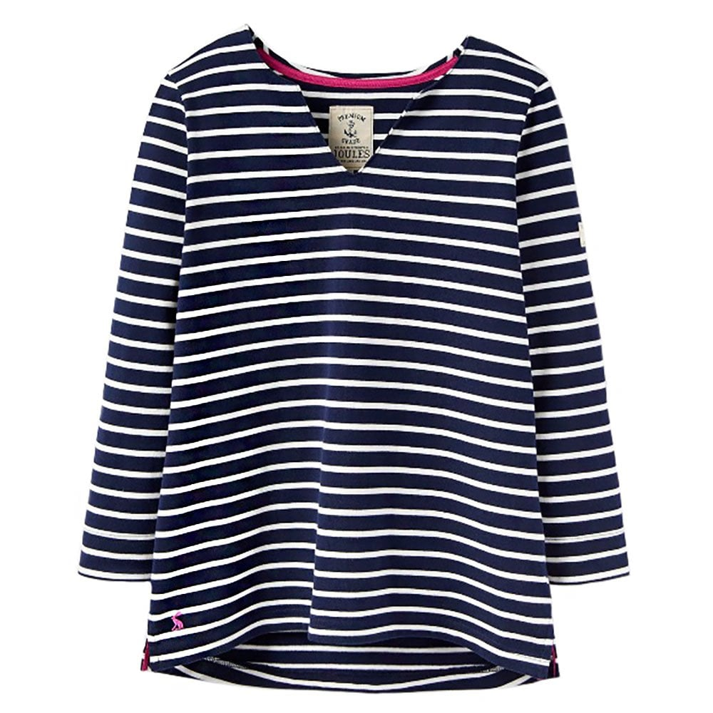 d5317c80e Joules Harbour Notch Neck Jersey Top   Houghton Country