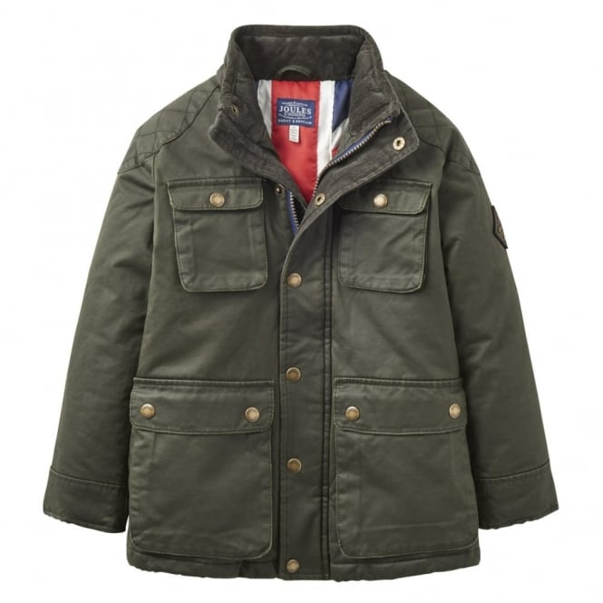 Joules Junior Barnham Wax-Style Jacket
