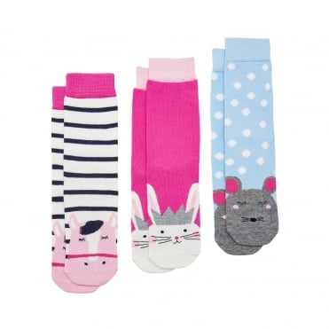 Joules Junior Neat Feet (X) Socks (3 Pack)