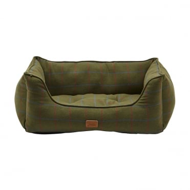 Joules Percher Check Rectangle Dog Bed