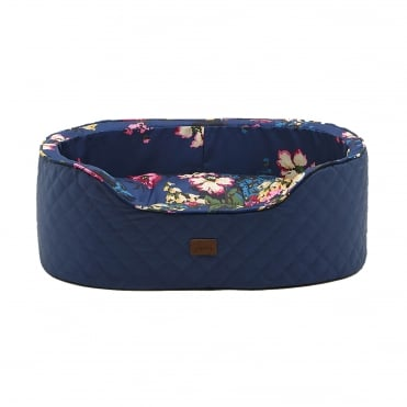 Joules Slumber Oval Quilted Dog Bed