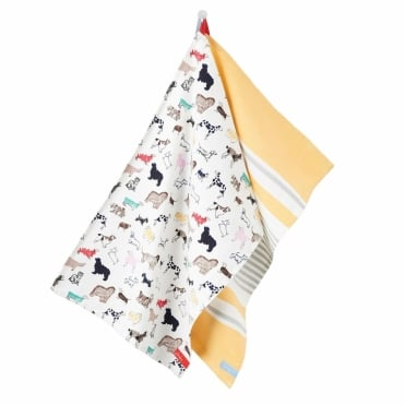 Joules Thea Tea Towel (Pack of 2)