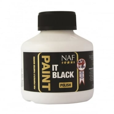 NAF Paint It Black Hoof Polish 250ml