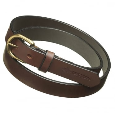 Pampeano Plain Skinny Leather Belt