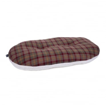Petface Country Check Oval Cushion