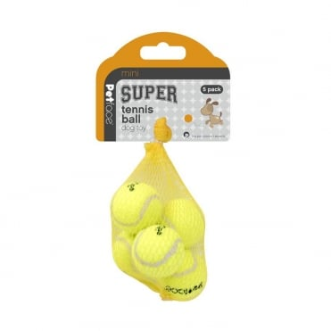 Petface Mini Super Tennis Balls 4cm (Pack of 5)
