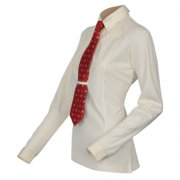 Shires Childrens Long Sleeve Tie Shirt