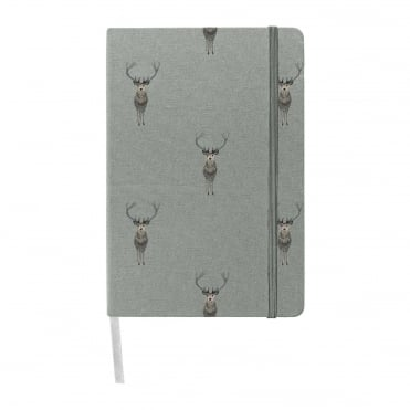Sophie Allport Highland Stag A5 Fabric Notebook
