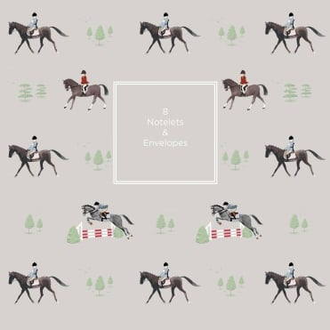 Sophie Allport Horses Notelet Wallet (Pack of 8)