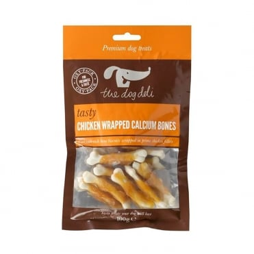 The Dog Deli Chicken Wrapped Calcium Bones 100g